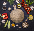 Cutting Board, Around Lie Ingredients Variety Of Vegetables And Fruits, Place For Text,frame Wooden Rustic Background Top View Stock Photography - 62736582