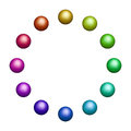 Twelve Colored Balls Royalty Free Stock Image - 62743586