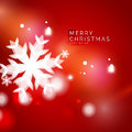 Holiday Red Abstract Background, Winter Snowflakes Stock Photography - 62747312