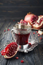 Pomegranate Juice And Pomegranate Royalty Free Stock Images - 62750459