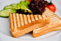 Two Slices Of Toast Royalty Free Stock Images - 62750679
