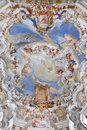 World Heritage Wall And Ceiling Frescoes Of Wieskirche Church In Bavaria Royalty Free Stock Photos - 62793888
