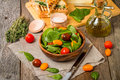 Salad Made With Baby Spinach And Cherry Tomatoes Stock Photo - 62795070