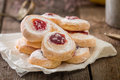 Homemade Jelly Cookies Puff Pastry With Red Jam Stock Image - 62795431