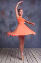 The Young Ballerina Dancing Royalty Free Stock Image - 62798526