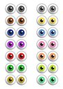 Set Of Colored Vector Eyes Stock Photo - 6289080