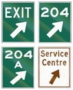 Guide Road Signs In Ontario - Canada Royalty Free Stock Image - 62801016