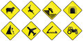 Warning Road Signs In Ireland Stock Photo - 62801380