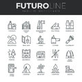 Outdoor Recreation Futuro Line Icons Set Stock Photo - 62806700