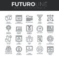 Search Engine Optimization Futuro Line Icons Set Stock Photos - 62806763