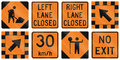 Road Work Signs In Ontario - Canada Royalty Free Stock Images - 62813139