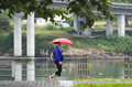 Day Of Rain And Red Umbrella Stock Photos - 62814333