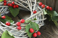 Holiday Door Wreath With Hawthorn Royalty Free Stock Image - 62815456