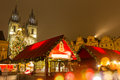 The Old Town Square In Prague At Winter Night Royalty Free Stock Photo - 62821385