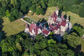 Aerial View Of Moszna Castle Royalty Free Stock Photography - 62841607