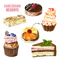 Set Of Hand Drawn Desserts Stock Images - 62841644