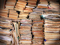 Piles Of Old Trash Books And Magazines Stock Photo - 62842750