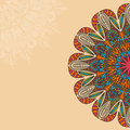 Tribal, Bohemian Mandala Background With Round Ornament. Hand Drawn Vector Illustration Royalty Free Stock Image - 62844666