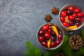 Mulled Wine With Cranberry And Orange Stock Photo - 62850370