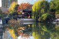 Autumn Reflection In Lan Su Chinese Garden Pond Royalty Free Stock Photography - 62869697