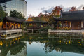Autumn Reflection In Lan Su Chinese Garden Pond Stock Photography - 62872892