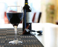 Wine Poured In Glass At Home Stock Images - 62878684