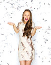 Happy Young Woman Or Teen Girl In Fancy Dress Stock Photography - 62889392