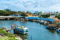 Boats On The Water From An Old Fishing Village In Espirito Santo, Brazil Stock Photography - 62893402