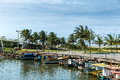 Boats On The Water From An Old Fishing Village In Espirito Santo, Brazil Royalty Free Stock Images - 62893409