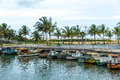 Boats On The Water From An Old Fishing Village In Espirito Santo, Brazil Stock Image - 62893441