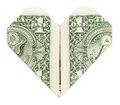Dollar Folded Into Heart Royalty Free Stock Image - 62904916
