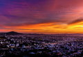 Sun Going Down Over The City Of Queretaro Mexico. Royalty Free Stock Images - 62905109