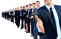 Business Group In A Row. Royalty Free Stock Photo - 62905785