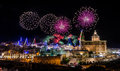 Fireworks Display For The Village Feast Of Our Lady In Mellieha - Malta Royalty Free Stock Photography - 62915037