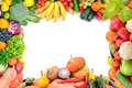 Frame Of Vegetables And Fruits Royalty Free Stock Photos - 62923548