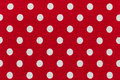 Fabric With Red And White Polka Dots Pattern Stock Photography - 62925512