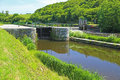 Sluice At The Nantes-Brest Canal Royalty Free Stock Images - 62933749