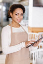 Waitress Working With Portable Tablet Stock Photography - 62968442