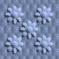 Seamless Blue Floral Pattern 3D. Royalty Free Stock Photo - 62978695