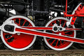 Detail And Close Up Of Huge Wheels At One Old German Steam Locomotive Stock Photos - 62979263