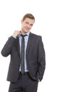 Body Language. Man In Business Suit Isolated On Royalty Free Stock Photos - 62995428