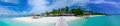 Tropical Island Panorama View At Maldives Royalty Free Stock Photos - 62997908