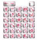 Medical Chrome Icons Stock Images - 635934