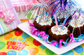 Birthday Party Brownies Stock Photography - 6302552
