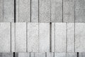 Gray Concrete Wall Made Of Different Size Blocks Stock Photo - 63007110