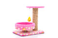 Pink Cat Tree On White Background Royalty Free Stock Photos - 63019638