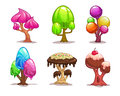 Cartoon Sweet Candy Tree Stock Images - 63037814