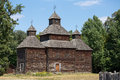 Wooden Old Orthodox Church. Kiev, Ukraine Royalty Free Stock Photography - 63041077