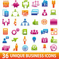 36 Business Icons Royalty Free Stock Photography - 63041347
