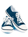 Blue Gym Shoes Stock Image - 63042981